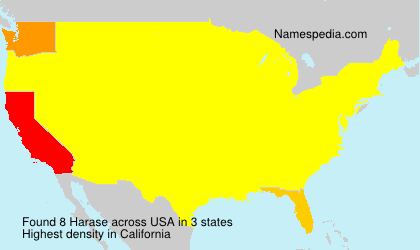 Surname Harase in USA