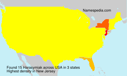 Surname Harasymiak in USA