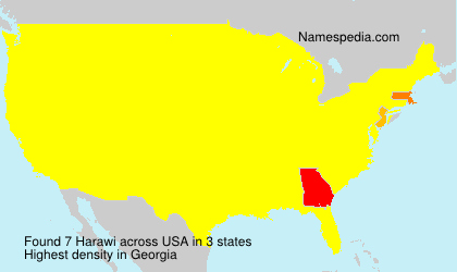 Surname Harawi in USA