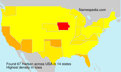 Surname Harban in USA
