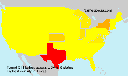 Surname Harbes in USA