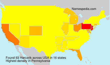 Surname Harcarik in USA
