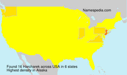 Surname Harcharek in USA