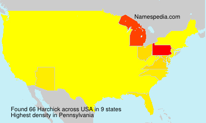 Surname Harchick in USA