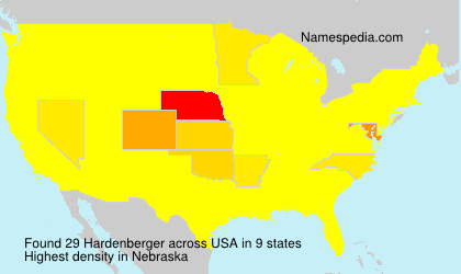 Surname Hardenberger in USA