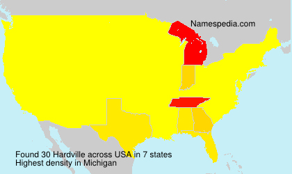 Surname Hardville in USA