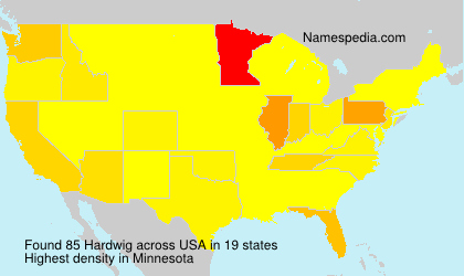 Surname Hardwig in USA