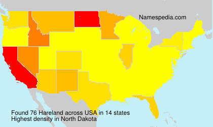 Surname Hareland in USA