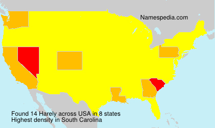 Surname Harely in USA