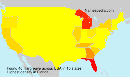 Surname Hargreave in USA