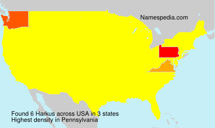 Surname Harkus in USA