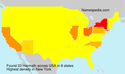 Surname Harmath in USA