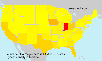 Surname Harmeyer in USA