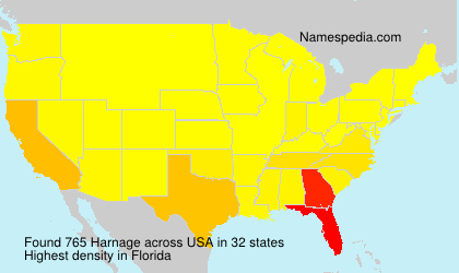 Surname Harnage in USA