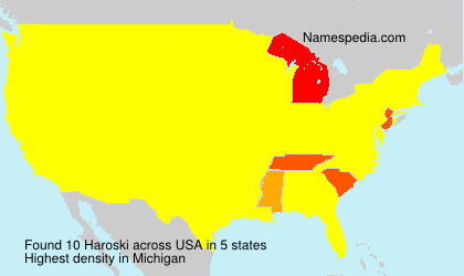 Surname Haroski in USA