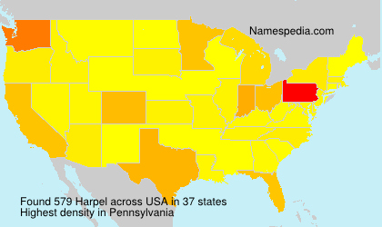 Surname Harpel in USA