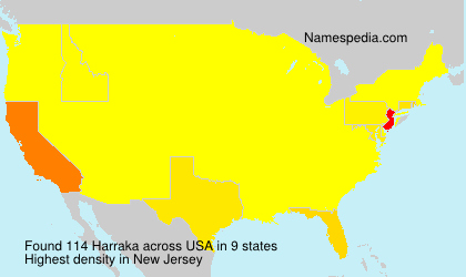 Surname Harraka in USA