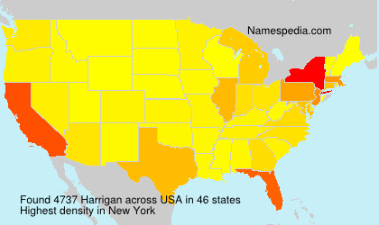 Surname Harrigan in USA