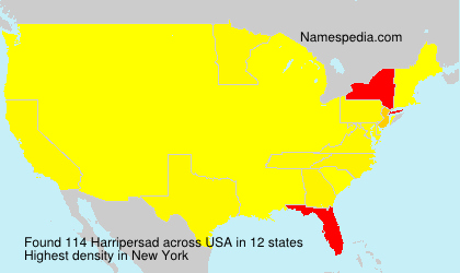 Surname Harripersad in USA