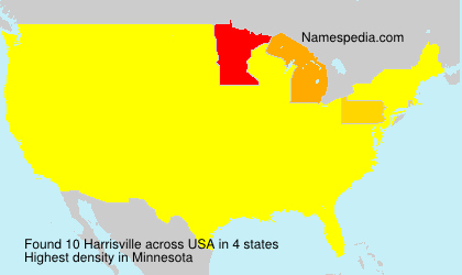 Surname Harrisville in USA