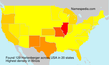 Surname Hartenberger in USA