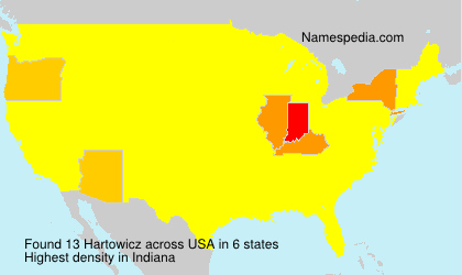 Surname Hartowicz in USA