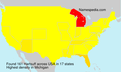 Surname Hartsuff in USA
