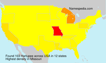 Surname Hartupee in USA