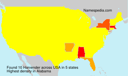 Surname Harvender in USA