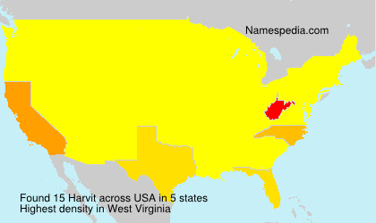Surname Harvit in USA