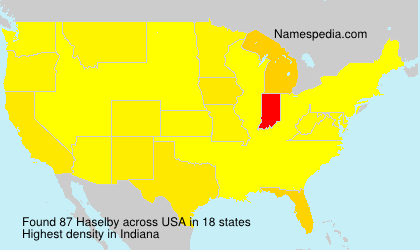 Surname Haselby in USA