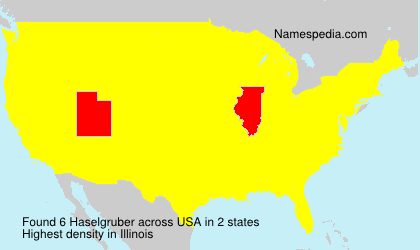 Surname Haselgruber in USA