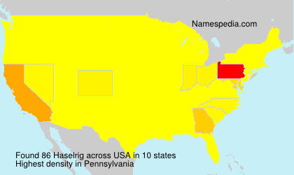 Surname Haselrig in USA