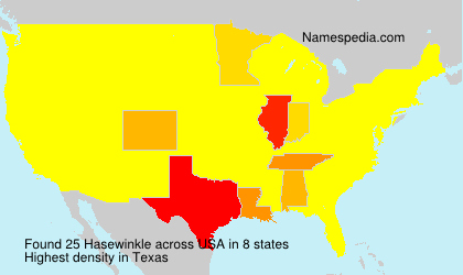 Surname Hasewinkle in USA