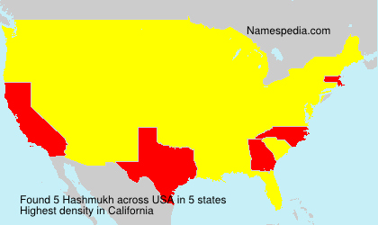 Surname Hashmukh in USA