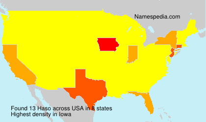 Surname Haso in USA