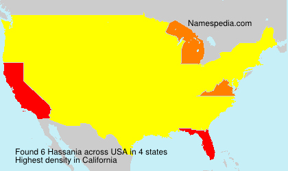 Surname Hassania in USA