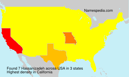 Surname Hassanizadeh in USA