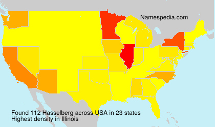 Surname Hasselberg in USA