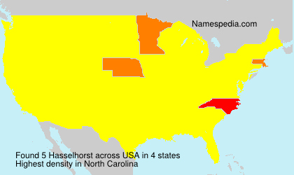 Surname Hasselhorst in USA