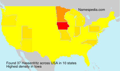Surname Hassenfritz in USA