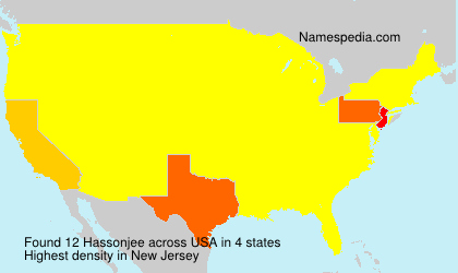Surname Hassonjee in USA