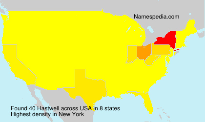 Surname Hastwell in USA