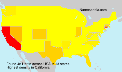 Surname Hattin in USA