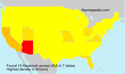 Surname Haubrock in USA