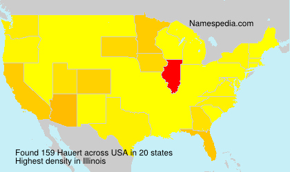 Surname Hauert in USA