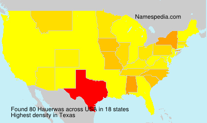 Surname Hauerwas in USA