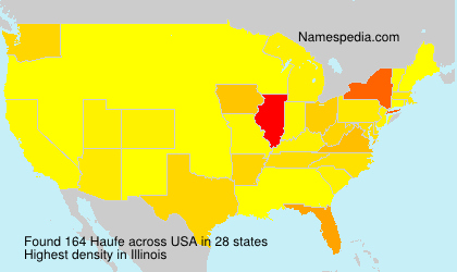 Surname Haufe in USA