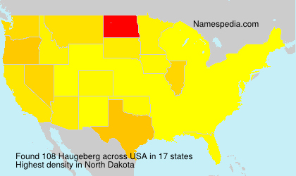 Surname Haugeberg in USA