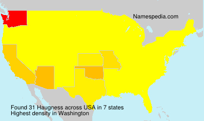 Surname Haugness in USA